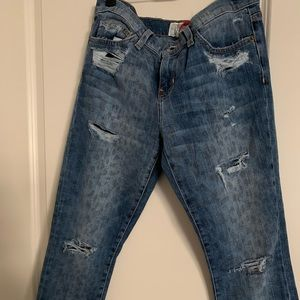 Current Elliot distressed Size 29 Faded Leopard